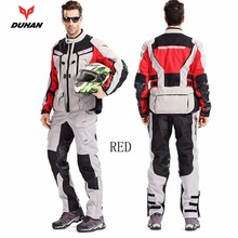 Free shipping 1set Mens Motorcycle Motorbike Jacket Waterproof Jacket Motocross Off-Road Racing Clothing Suits with 9pcs pads