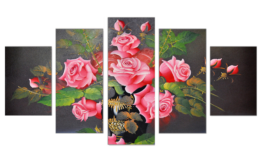 5D Paint with Diamonds Diy Red Fantasy Flowers Diamond Painting Full Drill Decor