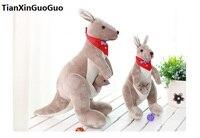 Yeni varış dolması oyuncak kırmızı eşarp bayrak ile Avustralya kanguru peluş oyuncak yumuşak bebek doğum günü hediyesi h2007