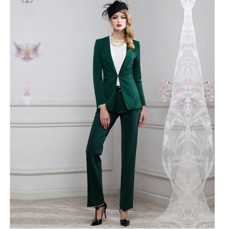 new Jacket+PantsDesign Black Women Business Suits Blazer Female Office Uniform 3 Piece Suit Ladies Winter Formal Suits