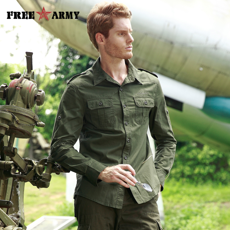 ARMY High Quality Basic Shirts  1