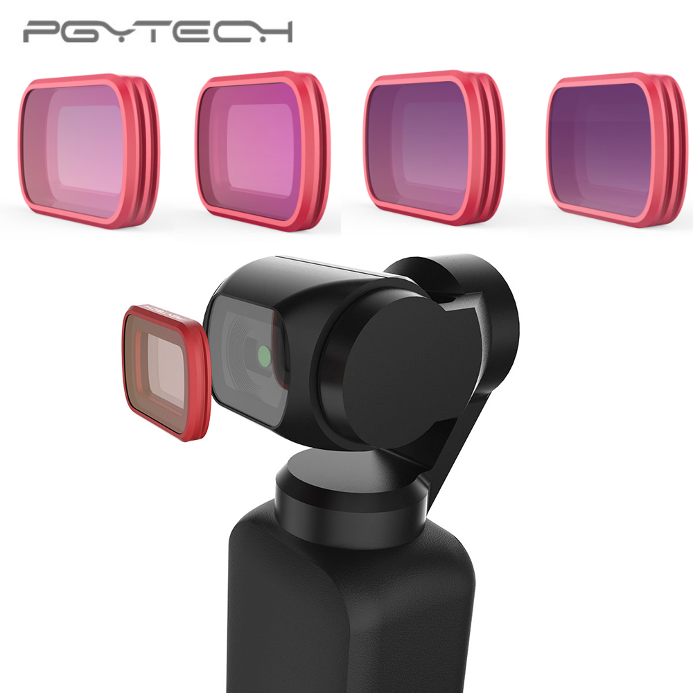 In Stock PGYTECH For DJI OSMO Pocket Filters Set Professional Filter ND8 ND16 ND32 ND64 ND 8 16 32 64