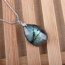 Естественный неправильной формы кристалл кулон из Лабрадорита лунный камень Sunstone кулон гадания духовные ювелирные изделия для медитации подвески