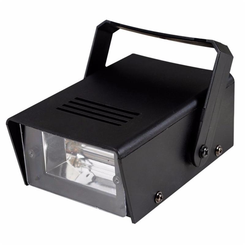 High Qulaity EU Plug Brightness 220V Mini DJ Strobe Lights Disco Party Bar Club Stroboscope White Stage Light Effects
