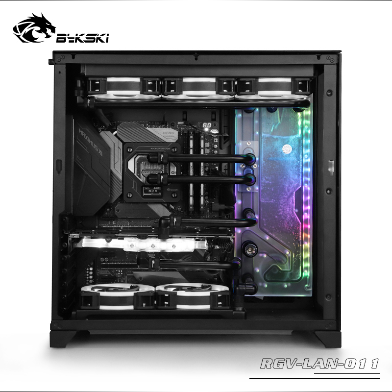 BYKSKI Acrylic Board Water Channel Solution use for LIAN LI O11 Dynamic Case for CPU and