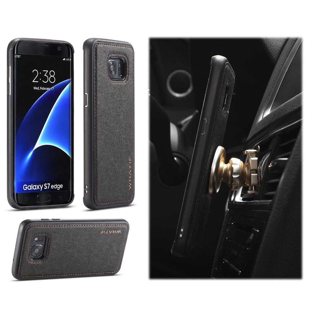 Параметры whatif телефон случаях Панцири крафт-бумаги автомобильный держатель тонкий чехол для Samsung Galaxy S7 Galaxy S7 Edge