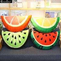 Free Shipping Creative Simulation Fruit Cushion Plush Toys Watermelon Orange Lemon Pillow Children Girls Gift Washable