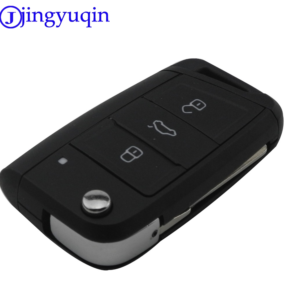 Jingyuqin 3 Tasten Geändert Folding Flip Remote Autoschlüssel Abdeckung Fall Fob für VW Golf 7 GTI MK7 Skoda Octavia A7 Sitz Kein Logo