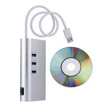 Надежный Алюминиевый Гигабитный сетевой адаптер ЛОКАЛЬНОЙ Сети Ethernet 3 Порт USB 3.0 HUB RJ45 теоретическая скорость 5 ГБИТ