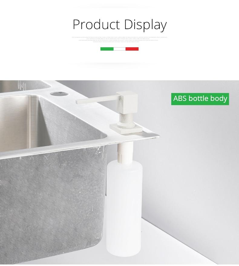 Dispenser Elegante Dosador P/Detergente Embutido Na Pia - Embutir Sabao Sabonete e Detergente