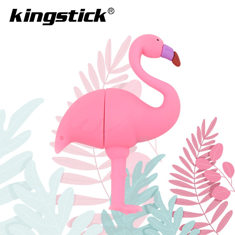 Image 2 - Flamingo USB flash drive 64GB 32GB 16GB 8GB 4GB Genuine cartoon U disk cute thumb drive pendrive usb key pen drive-in USB Flash Drives from Computer & Office