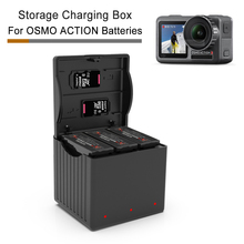3 in 1 OSMO ACTION Charger TYPE-C Input 4.35V Lithium Fast Charging Kit Box for DJI Accessories Battery