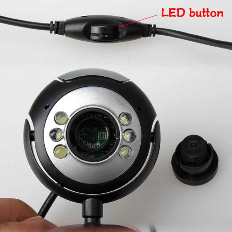 8.0 Mega 30 M USB 6 LED Webcam Web Cam Camera Laptop Computer With Microphone IJS998