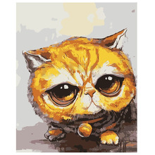 Hot sale 16X20inch Paint By Number Kit DIY Digital Oil Acrylic Painting on Canvas Home Decor, Bell cat