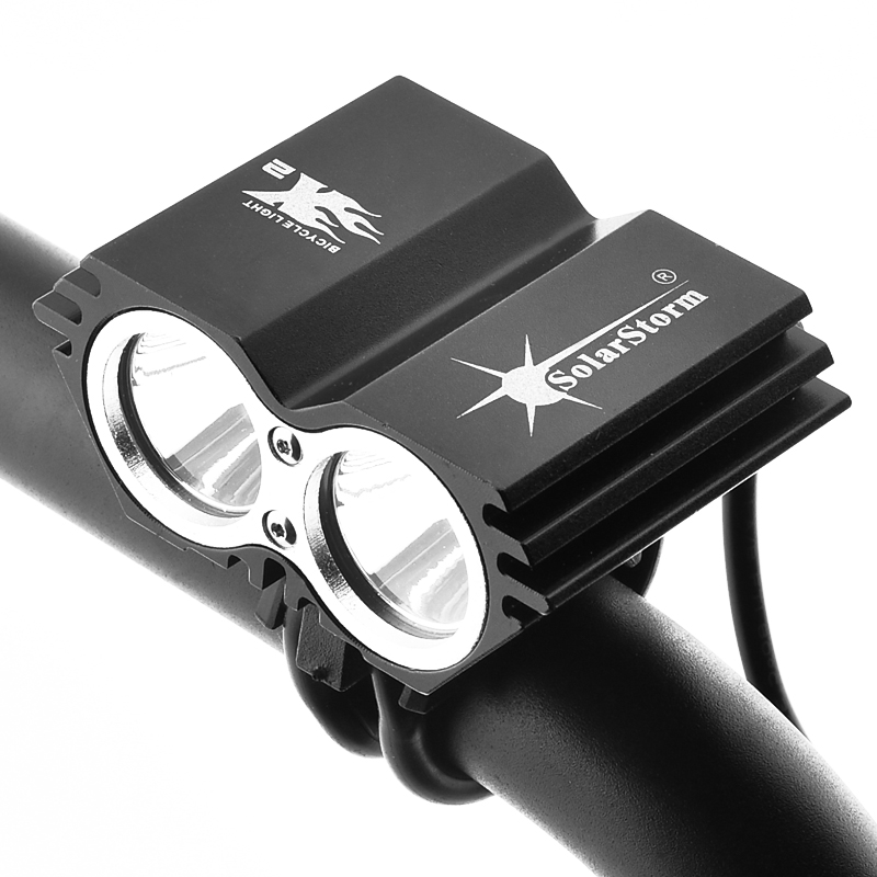 SolarStorm 5000 Lumen 2x XML U2 LEVOU Ciclismo Bicicleta Luz Da Frente Da Bicicleta Lâmpada Farol Farol (Sem Bateria)