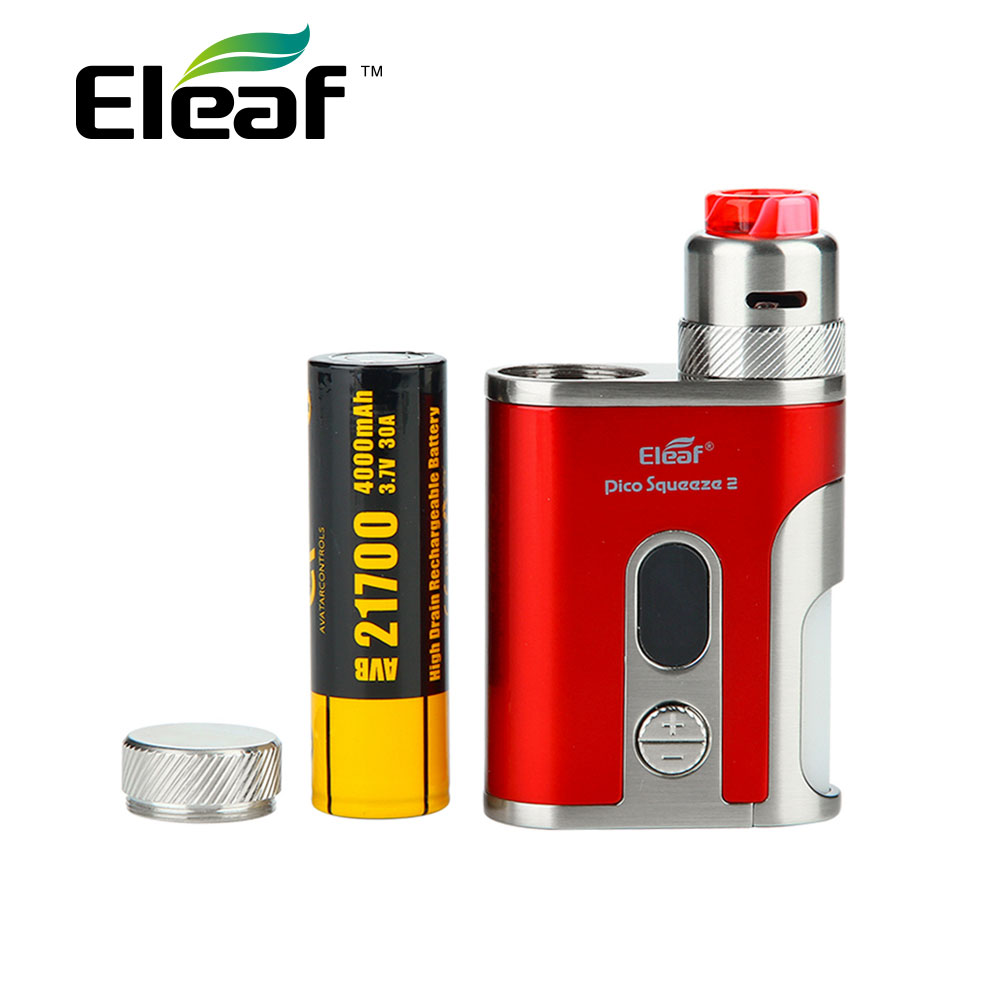 Original Eleaf IStick Pico Squeeze 2 Kit 4000mAh with Coral 2 RDA & 8ml Squonk Bottle Max 100W for DIY Fans Vs X-priv 225w/ Mag original eleaf istick pico squeeze 2 kit 4000mah battery with coral 2 rda