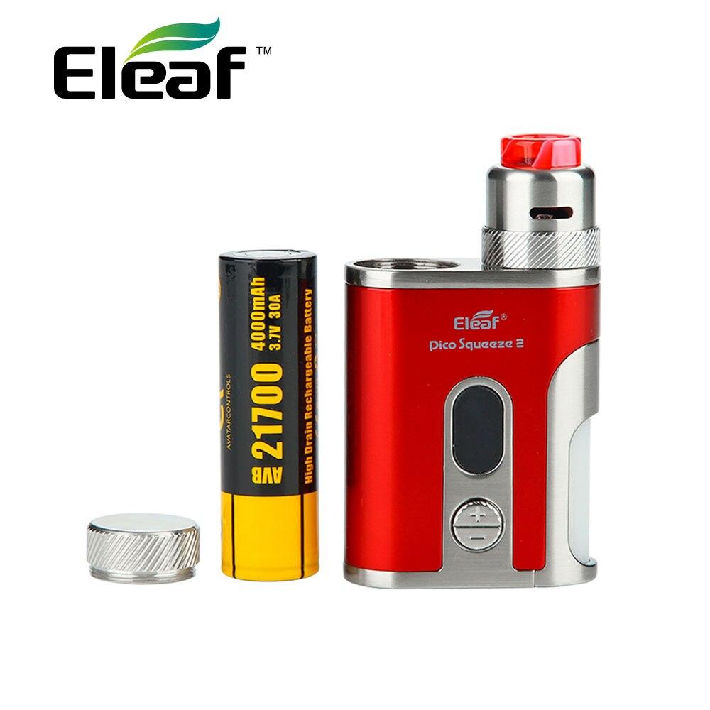 Originale Eleaf IStick Pico Spremere 2 Kit 4000 mAh con Corallo 2 RDA e 8 ml Bottiglia Squonk Max 100 W per Gli Appassionati di FAI DA TE Vs X-priv 225 w/Mag