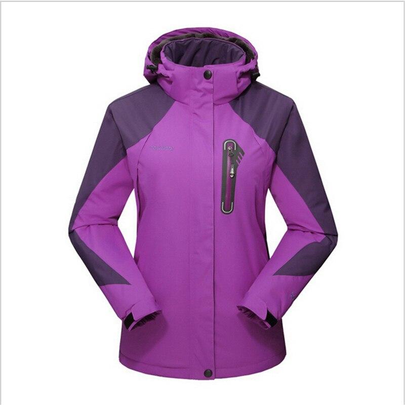 purple Veste Chaud Manteau Ailooge Imperméable Usure rose De Marque Nouvelle Mode Blue vent Polaire 2017 Coupe red D'hiver Red Femmes Ow0P8nk