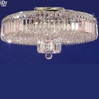 Złoty proste luksusowy hotel wysokiej jakości okrągłe lampy kryształowe Lampy Sufitowe oświetlenie korytarza sypialnia lampa, D60cm x H30cm
