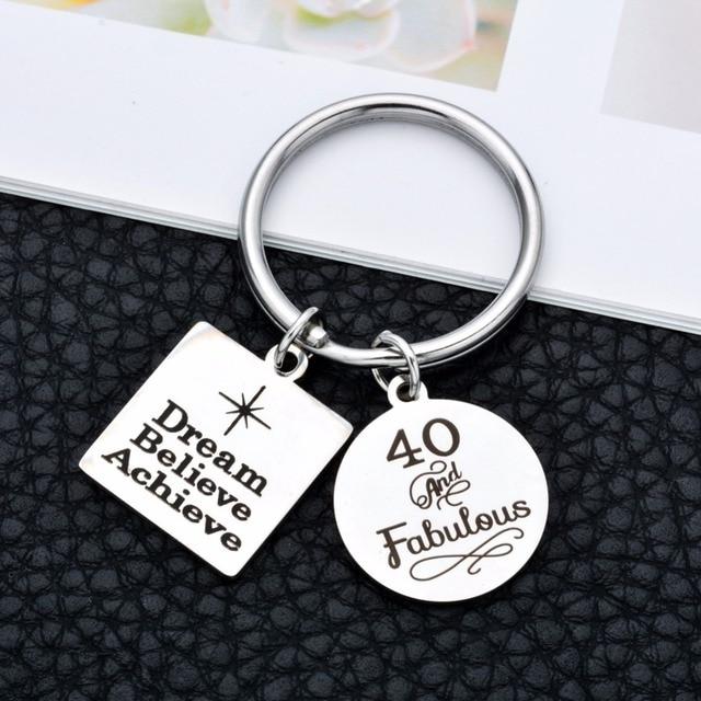 Купить брелок для ключей из нержавеющей стали в подарок на 40 й день