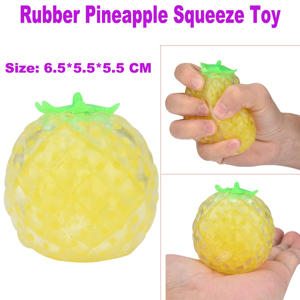 Rubber Pineapple Ball Hand Wrist Squeeze Toy Stress Autism Mood Relief Gift Education Toy Baby Toys & Games Children