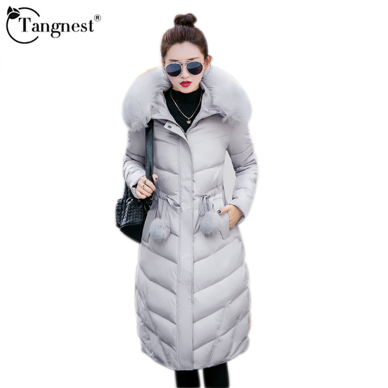 2017 New Winter Jacket Women Hooded Thicken Coat Female Fashion Warm Down Cotton-Padded Long Wadded Outwear Parka WWM1642 snowka down parka winter jacket women 2016 famous brand white down jacket thicken women coat warm hooded outwear belt silm parka