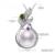Daimi pearl pendant 9-10mm grande pérola de água doce pingente de prata 925 pingente de 2017 novo luxo pingente