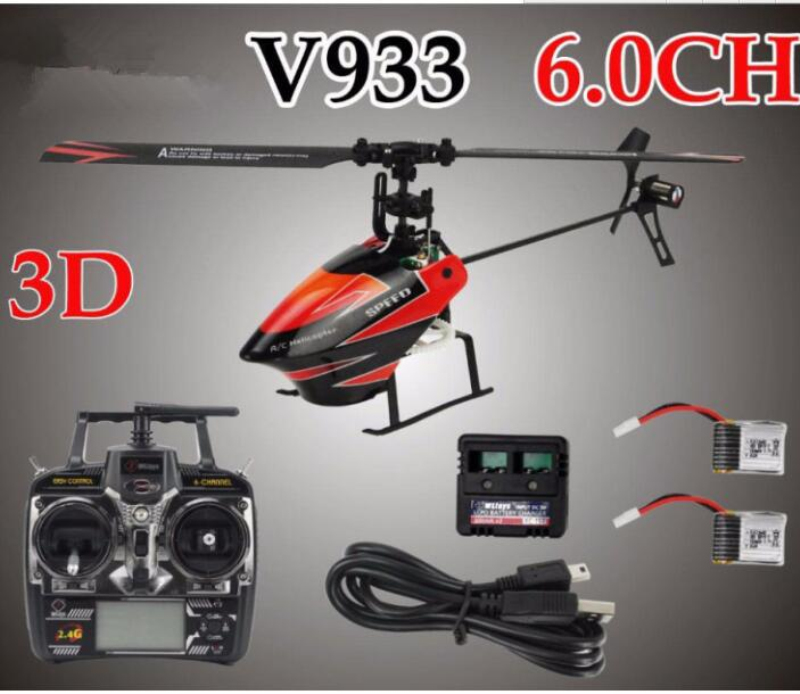 rc helicopter V933 2.4g 6 Channel Flybarless Remote Radio Control RC Helicopter RTF 3D Fly with lcd Aircraft RC toy for gifts free shipping s700 dragonfly helicopter 4 channel wireless remote control rc plane lcd flight data distribution for kids as gift