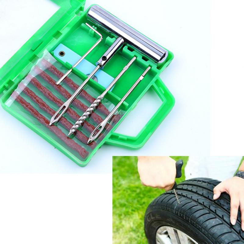 Auto Car Motorcycle Tubeless Tire Tyre Puncture Plug Bike Tire Cement Tool Kit