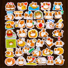40 pcs Pocket Stickers Funny dog Emoticon stickers Keemun Diary album decoration scrapbooking(China)