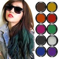 Fashion Non Toxic Temporary Salon Show Party Hair Chalk Color Dye Kit With Box 10Pcs Multi