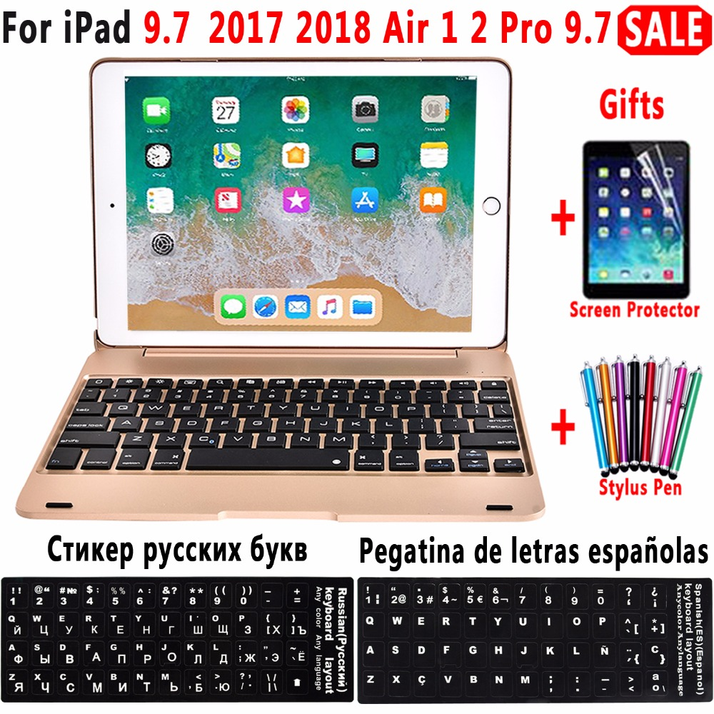 Folding Laptop Design Wireless Bluetooth Keyboard Cover for Apple iPad 9.7 2017 2018 5th 6th Generation Air 1 2 5 6 Pro 9.7 Case