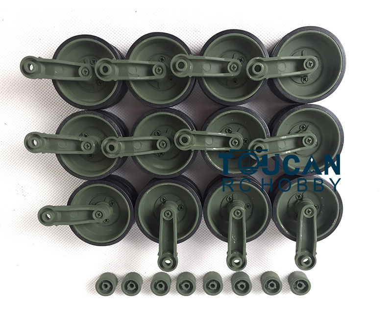 HengLong 1/16 Leopard2A6 Camouflage Metal Road Wheels W/ Suspention Bars 3889