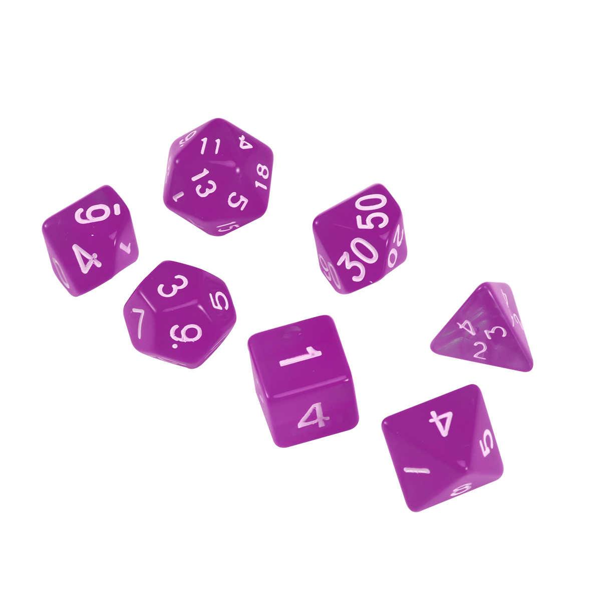20 dados de jogo de face d20 dados poliédricos para masmorras e dragões jogos de mesa (roxo)