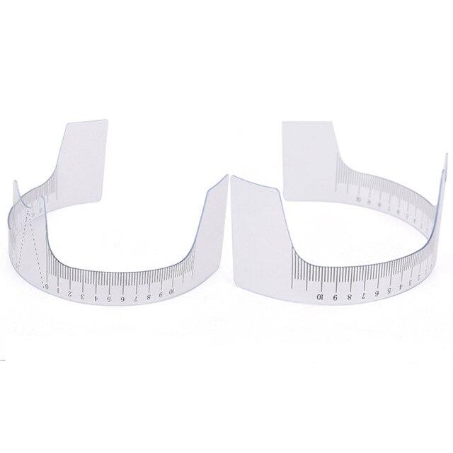 1PC Reusable Semi Eyebrow Guide Ruler Microblading Calliper Stencil Makeup Permanent Eyebrow Ruler Eye Brow Measure Tool 1