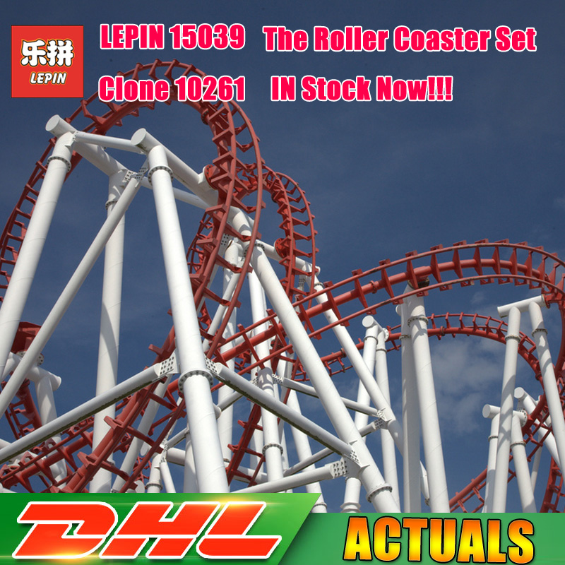 4619 pcs Lepin 15039 Parc D'attractions Le Roller Coaster Ensemble Modèle Buidling Blocs Briques Fille Jouets Compatible Legoings 10261