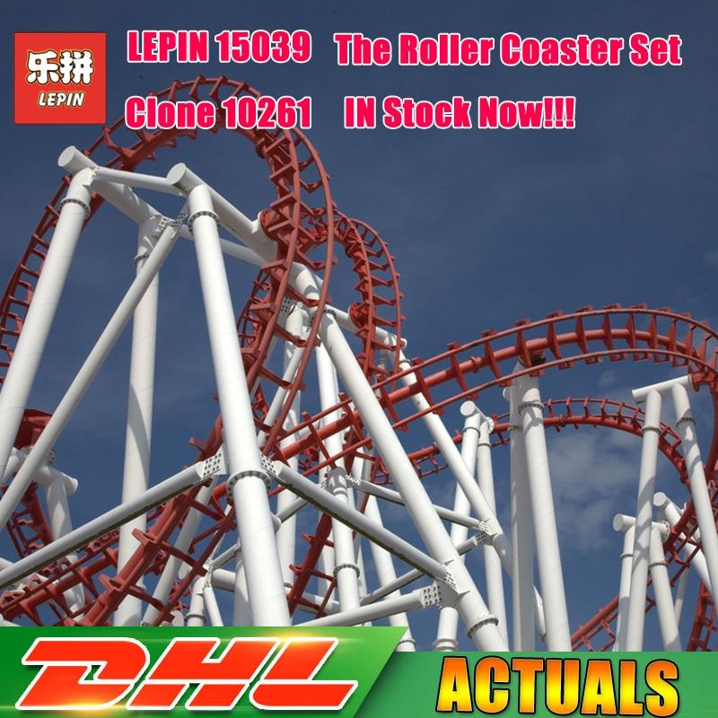 4619 piezas Lepin 15039 parque de atracciones el Roller Coaster Set modelo building Blocks ladrillos chica juguetes Compatible Legoings 10261