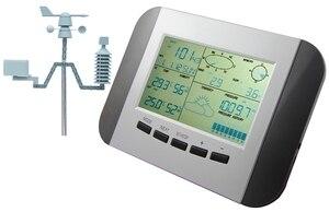 Image 4 - 100M מקצועי תחנת מזג מדחום לחות גשם לחץ נתונים מקליט עם מחשב שמש כוח אלחוטי מזג אוויר מרכז