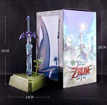 26cm zelda skyward espada ligação mestre espada figura de ação brinquedos boneca presente natal com caixa