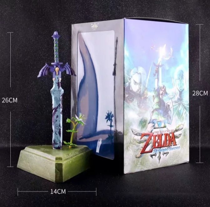 JHACG 26cm The Legend of Zelda Skyward Sword link Master Sword Action figure toys doll with box
