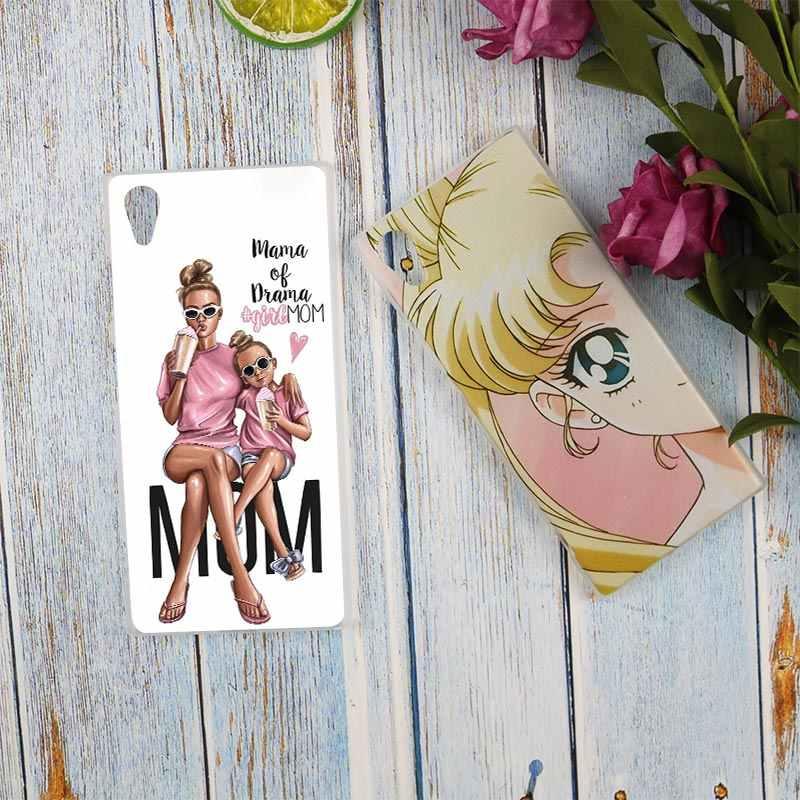 Binful для мам и детей, для девочек, Прозрачный чехол для Sony Xperia Z3 Z5 Премиум M4 Aqua M5 X XA XA1 C4 C5 E4 E5 XZ XZ2 Compact Plus