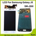 1 unids color blanco pantalla lcd + pantalla táctil digitalizador sin marco del reemplazo + herramientas gratis para samsung galaxy j5 sm-j500 j5007 j5008