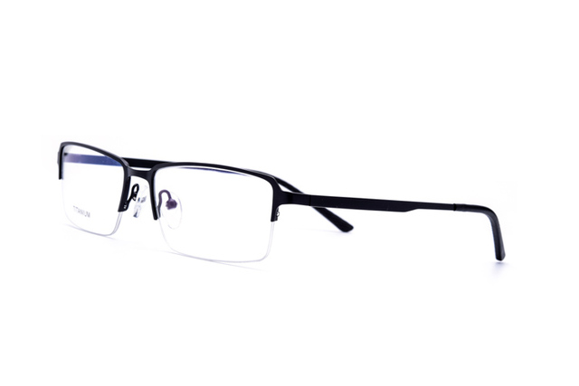 0ab7d6cee05 100% Real Titanium Rimless Prescription Glasses Frame Men Women Classic  Eyeglasses Myopia Optical Oculos De