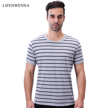 Casual Men's Striped T Shirt New Fashion Brand O Neck Short Sleeve T Shirt Mens Clothing Trend Slim Fit Plus Size Top Tees 5XL