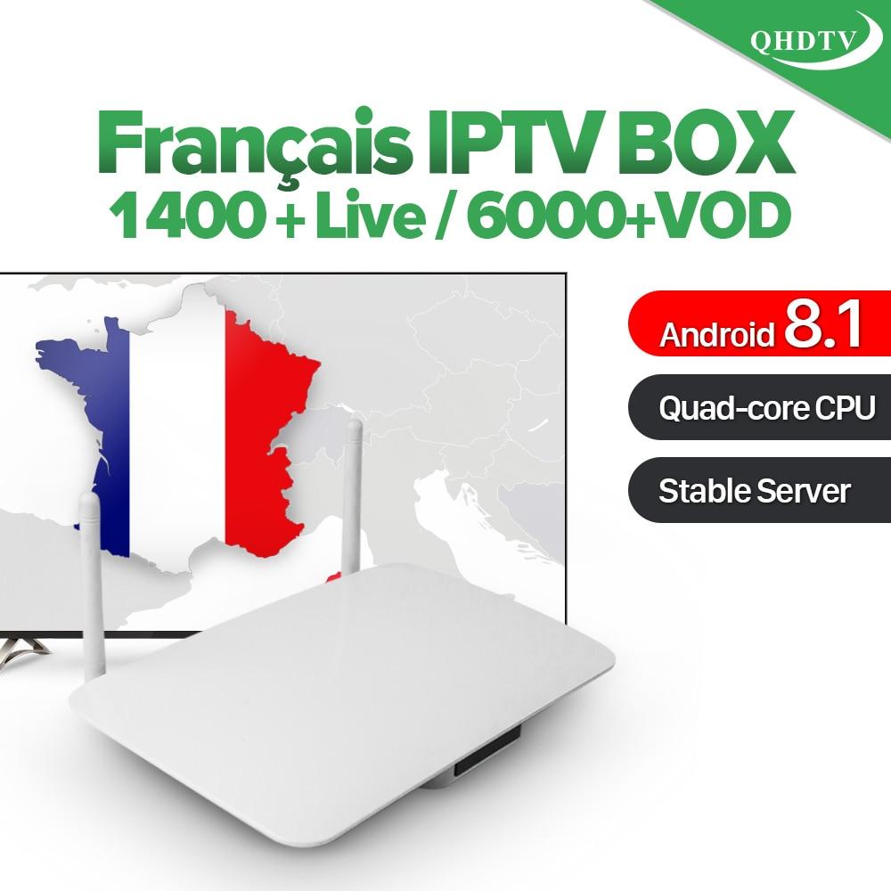 Leadcool Android 8.1 1G 8G IPTV Box QHDTV abonnement 1400 canal Stable IPTV Box France italie arabe lecteur multimédia décodeur