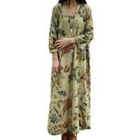 De talla grande ropa De las mujeres De vestido largo Furcal Vestidos Largos De Verano De lino De algodón Maxi vestido túnica longues vestido De invierno