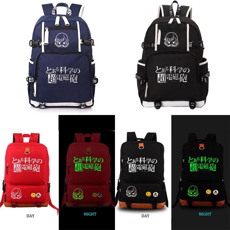 Toaru Kagaku no Railgun backpack student school bag Notebook backpack Daily backpack