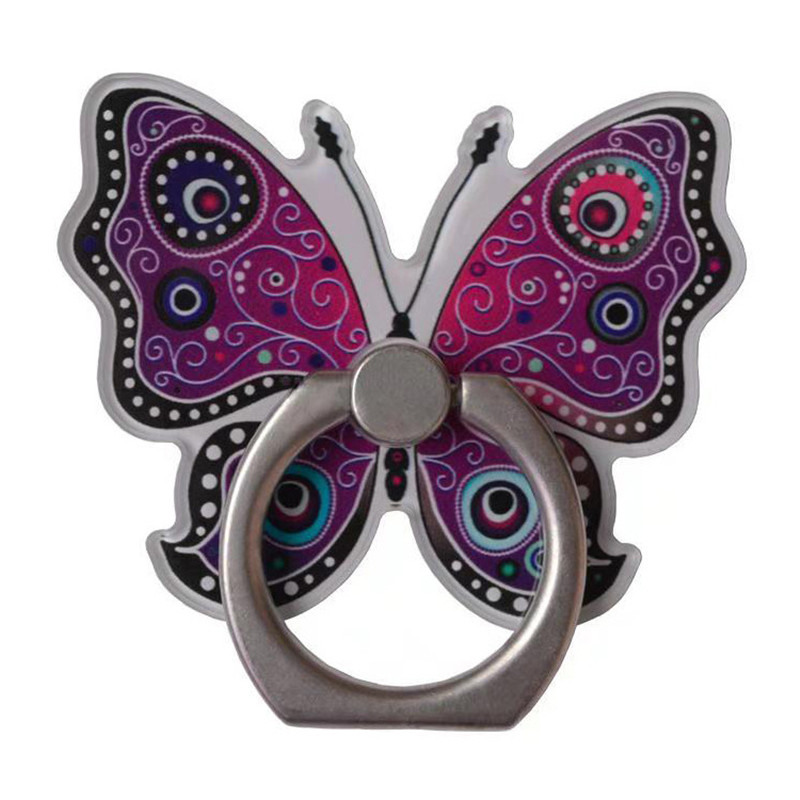 Universal Mobile Phone Holder Pretty Butterfly Phone Ring Holder Cell Phone Stand Finger Ring Holder Tables Support For IPhone
