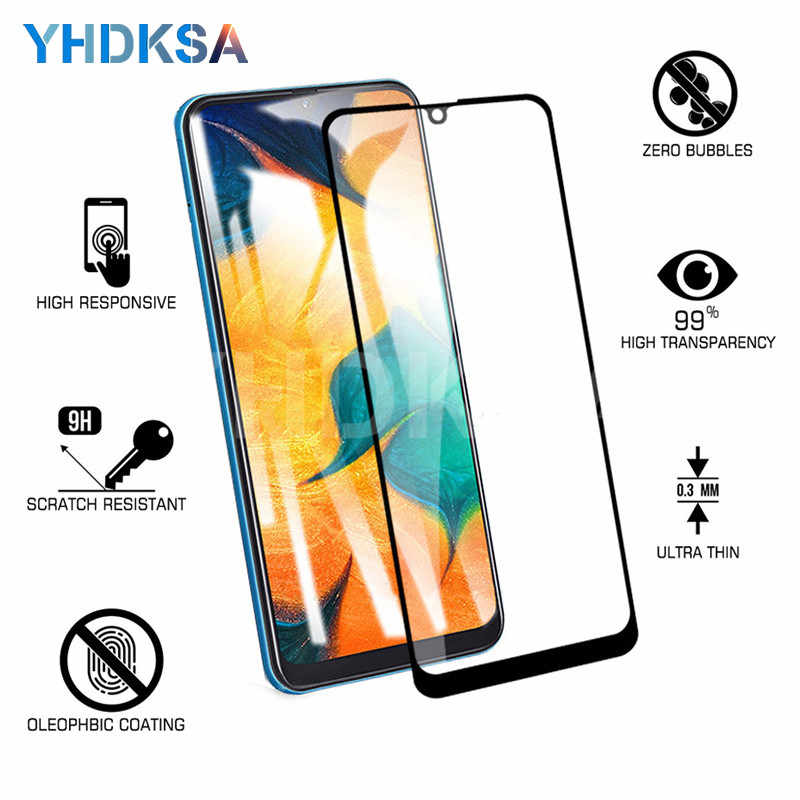 9D Full Cover Tempered Glass For Samsung Galaxy A10 A20 A30 A40 A50 A60 A70 A80 A90 M10 M20 M30 Screen Protector Protective Film