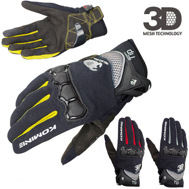 New Summer Touch Screen KOMINE GK162 3D Mesh TECHNOLOGY Motorcycle Rding glove motorbike Moto racing gloves M-XXL